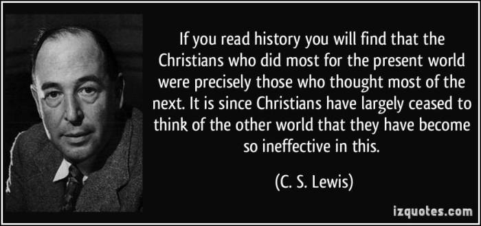 C.S. Lewis on new-earth living